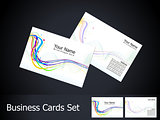 abstract colorful business card set