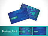 abstract digital business card template