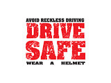 abstract drive safe text