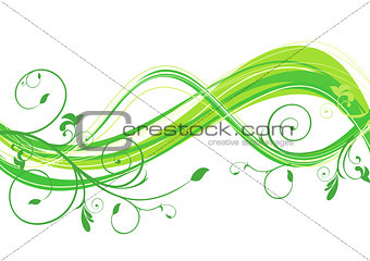abstract eco floral wave