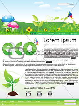 abstract eco based web site template