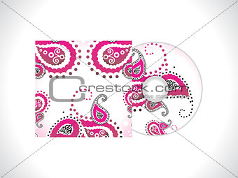 abstract floral cd template
