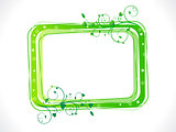 abstract green eco floral frame template