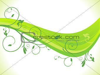 abstract green eco wave background