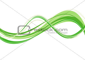 abstract green wave template
