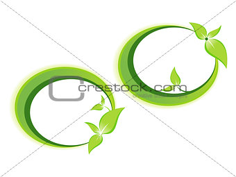 abstract leaf based template