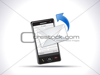 abstract mobile mail icon