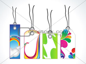 abstract multiple sale tag set