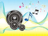 abstract colorful music sound wave wallpaper