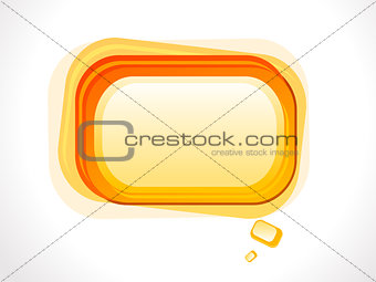 abstract orange based glossy shape