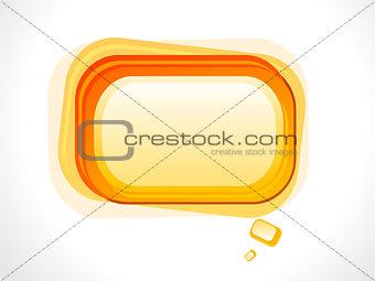 abstract orange based glossy shape