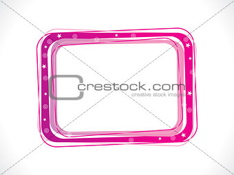 abstract pink frame template