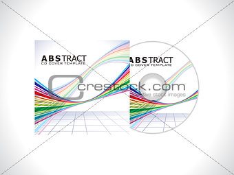 abstract colorlul  cd template