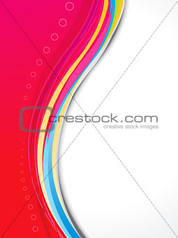 abstract red based brochure template
