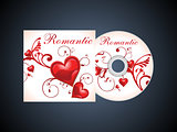 abstract romantic cd template