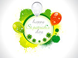 abstract st patrick background with balloon
