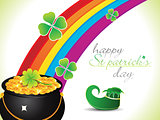 abstract st patrick rainbow background