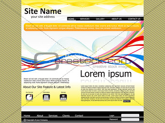 abstract web site template