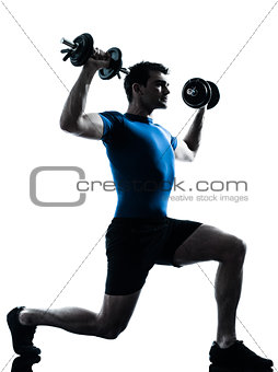 man exercising weight training workout fitness posture
