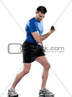 man workout  weight training
