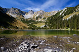 Soiernsee and Schottelkarspitze in Alps