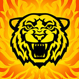 Tiger head mascot