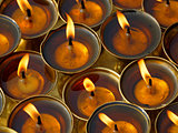 Butter lamps in a monastery