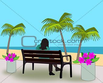 Bench at the Beach.
