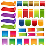 Big Colorful Ribbons And Design Elements