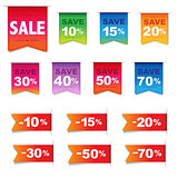 Discount Labels And Ribbons Set