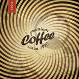 Coffee grunge retro background. Vector, EPS10