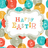 Colorful Happy Easter Card Design. Vector, EPS10