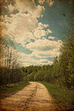 Grunge rural road
