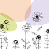 Floral background. Vector, EPS10