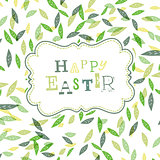 Happy easter. Cute greeting card template, Vector, EPS10