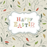 Happy Easter Retro Cute Greeting. Vector, EPS10