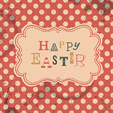 Happy easter retro greeting card. Vector, EPS10