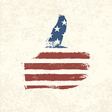 Like shaped american flag. Vector, EPS10