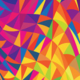 Multi-colored triangles background. Vector, EPS10