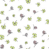 Seamless clover background. Vector, EPS8