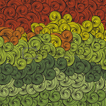 Abstract multi-colored waves pattern. Vector, EPS8
