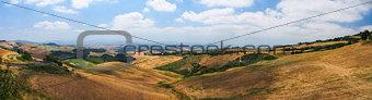 Panoramic views of the Tuscan hills