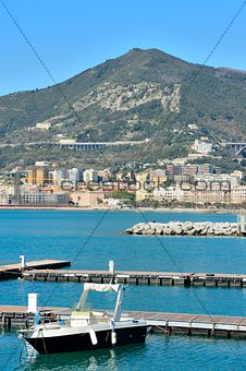 views of the seafront in the Gulf of Salerno