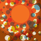 Abstract Retro Sunburst Background