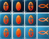 Set of Christian icons for web