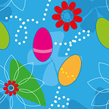 Cute Easter Seamless pattern (background)