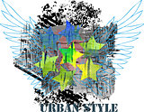Urban abstract design