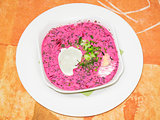 east european cold beetroot soup
