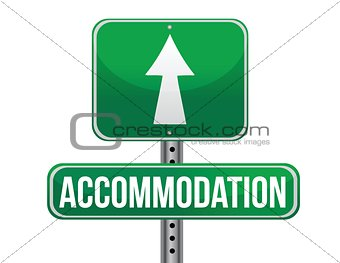 accommodation sign