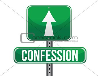 confession sign
